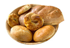 Bread rolls and loaf Stock Photography