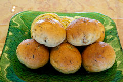 Bread rolls on a plate Stock Photography