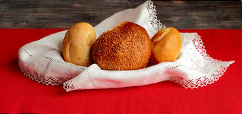 Bread rolls with sesame Royalty Free Stock Image