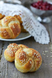 Bread rolls. With sesame seeds Stock Photo