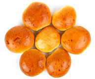 Bread rolls on white background Stock Photography
