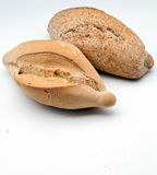 Bread rolls with whole wheat bread. Surrounded by white background Stock Images