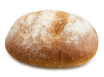Bread round shape isolated. Royalty Free Stock Image
