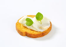 Bread rusk with cream cheese Royalty Free Stock Photography