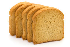 Bread rusk isolated. Bread rusk on white background Stock Image