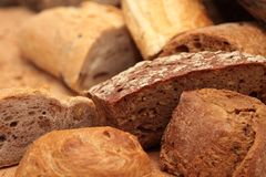 Bread, Rye Bread, Baked Goods, Brown Bread Royalty Free Stock Photography