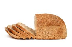 Bread from rye flour isolated Stock Images