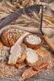 Bread from rye and healthy grains Stock Images