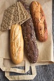 Bread from rye and wheat flour Royalty Free Stock Image