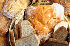 Bread from rye and wheat flour Stock Photography