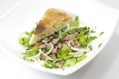 Bread and salad Royalty Free Stock Photography