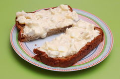 Bread with salad Royalty Free Stock Image