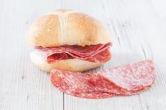 Bread Salami Stock Photography