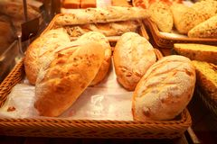Bread on sale. Bread freshly bake , ready for sale. Shallow depth of field Stock Images