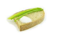 Bread with salt. Bread with onion and salt Stock Images