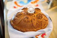 Bread and salt, a Russian tradition Royalty Free Stock Photography