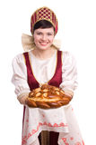 Bread-and-salt welcome Royalty Free Stock Photo