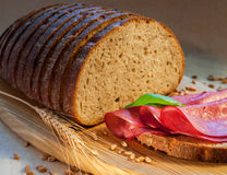 Bread and sandwich Stock Image