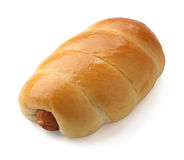 Bread with sausage Royalty Free Stock Image