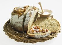 Bread with scraps Stock Image