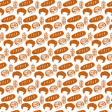Bread seamless pattern Stock Photography