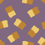 Bread seamless pattern. Food  background Royalty Free Stock Photos