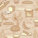 Bread seamless pattern Royalty Free Stock Image