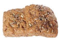 Bread with seeds. Swedish bread with seeds isolated on white background royalty free stock photos