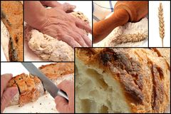 The bread, from its manufacture to its tasting stock image
