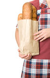 Bread seller Stock Image