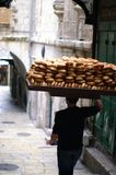 Bread seller in Jerusalem Royalty Free Stock Photo