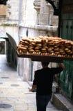 Bread seller in Jerusalem royalty free stock photo