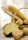 Bread Series (basket of bread) Royalty Free Stock Photo