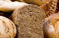 Bread Series (slice whole wheat) Stock Photography