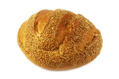 Bread with sesame. Loaf of bread with sesame seeds Royalty Free Stock Photos