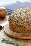 Bread with a sesame Stock Photography