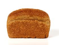 Bread with sesame. This type of rye bread is covered by sesame seeds Stock Photos