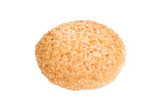 Bread with sesame isolated on white background Stock Photography