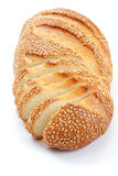 Bread with a sesame, over white Royalty Free Stock Photography