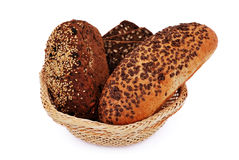 Bread with sesame seeds Stock Photography