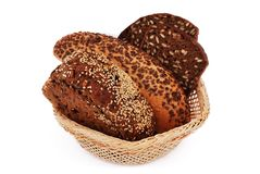 Bread with sesame seeds Royalty Free Stock Images