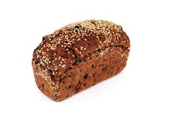 Bread with sesame seeds Stock Photo