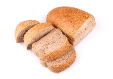 Bread with sesame seeds Stock Photos