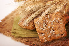 Bread with sesame and sunflower seeds Stock Image