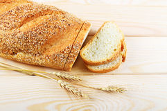 Bread with sesame Stock Photo