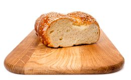Bread with sesame Stock Images