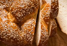 Bread with sesame Royalty Free Stock Images