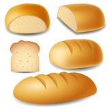 Bread set. In different positions stock illustration