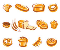 Bread set. Vector Royalty Free Stock Images
