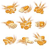 Bread set. Vector royalty free illustration